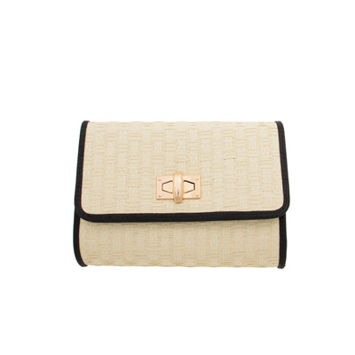 Natural Weave Mini Clasp Flap over Small Clutch
