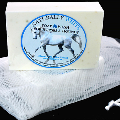 Naturally White Soap Bar for Horses and Hounds With Drawstring Bag