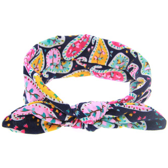 Nature Knot Hairband - Navy