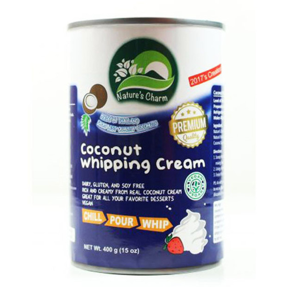 Natures Charm Coconut Whipping Cream 400gm