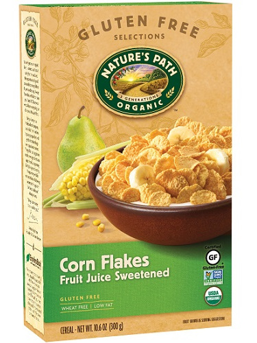 Nature's Path Corn Flakes Fruit Juice Sweetened 300g