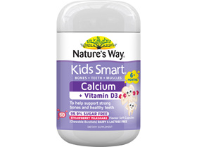 Nature's Way Kids Smart Calcium Plus Vit D Burstlet 50s