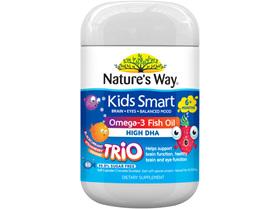 Nature's Way Kids Smart Fish Oil Trio Burstlet 60s