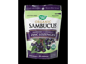 Natures Way Organic Sambucus Zinc Lozenges