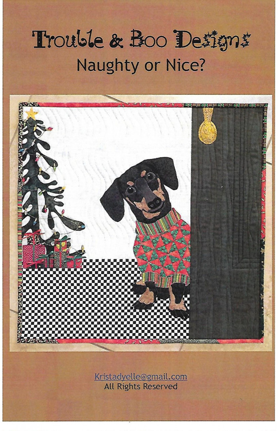 Naughty or Nice Quilt Pattern from Trouble & Boo Designs