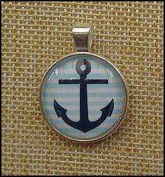 Nautical Glass Dome Key Ring