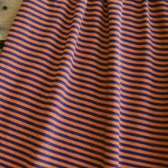 Navy and Orange Stripe