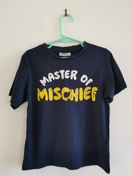 Navy Blue Slogan T-Shirt