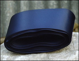 Navy Blue Wedding Car Ribbon
