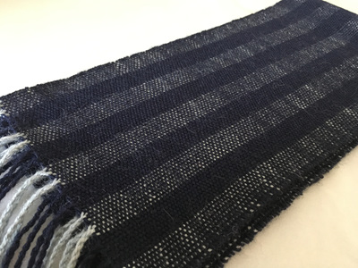 Navy/Chambray Woven Scarf