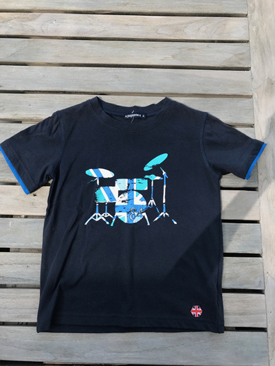 Navy Drum tee shirt