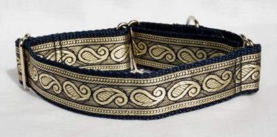 Navy & Gold Paisley Collar