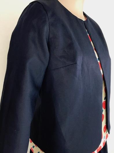 Navy Linen box jacket