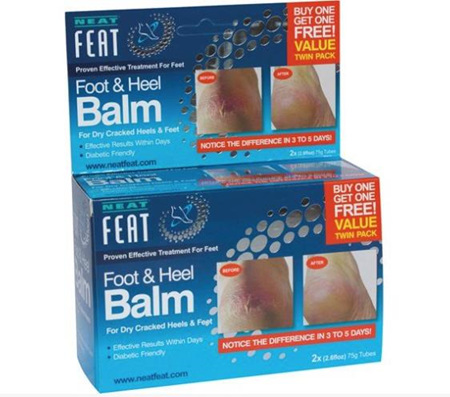 NEAT FEAT FOOT AND HEEL BALM 2x75G TUBES