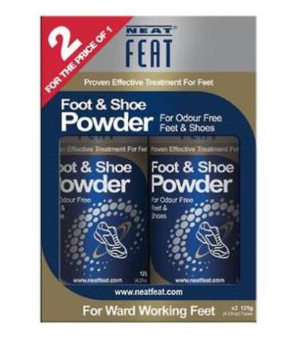 NEAT FEAT FOOT AND SHOE POWDER - VALUE PACK 2 FOR 1