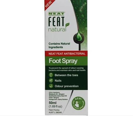 NEAT FEAT NATURAL ANTIBACTERIAL FOOT SPRAY  50ML