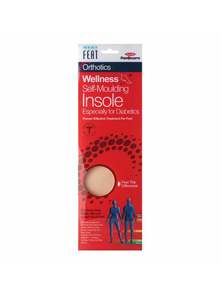 Neat Feat Orthotics Diabetic Self-Moulding Insole Large