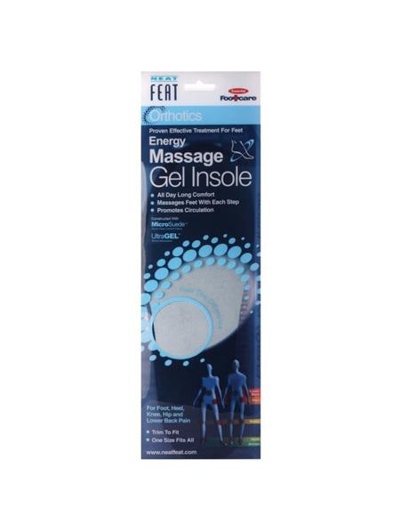 Neat Feat Orthotics Energy Massage Gel Insoles  Men