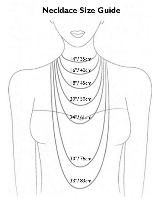 Necklace length pretty birds creations necklace length mozeypictures Image collections