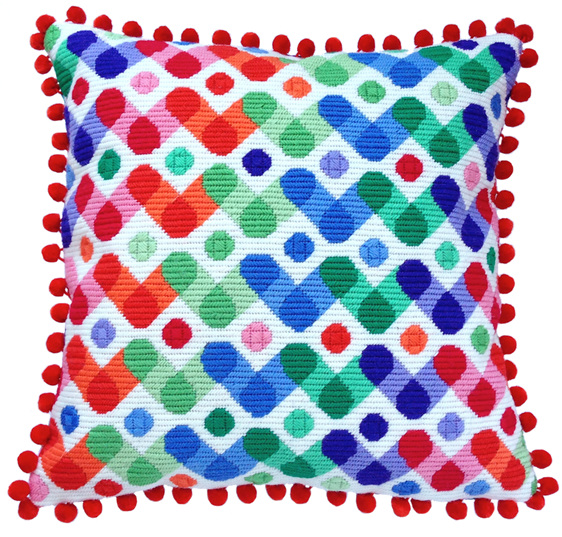 needlepoint cushion