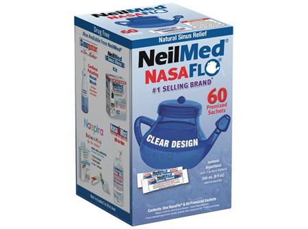 Neilmed Nasaflo Neti Pot With 60 Packets