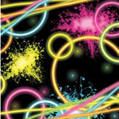 Neon Glow Party Napkins