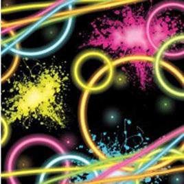 Neon Glow Party Napkins