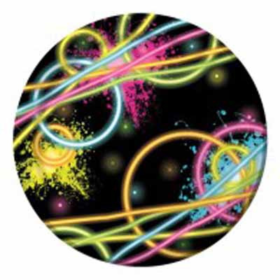 Neon Glow Party Plates
