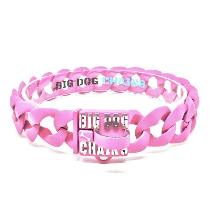 Neon Pink Custom Dog Collar by Big Dog Chains