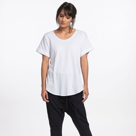 NES LOTUS COTTON  TEE IN WHITE AND BLACK