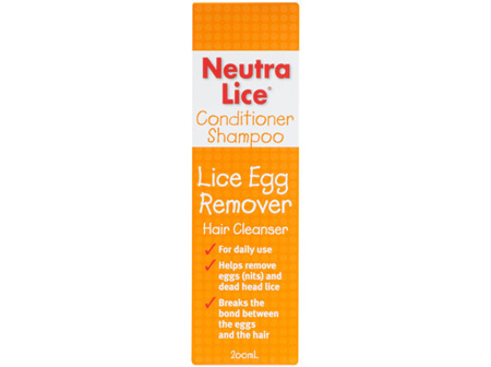 NeutraLice Conditioner Shampoo Lice Egg Remover 200ml