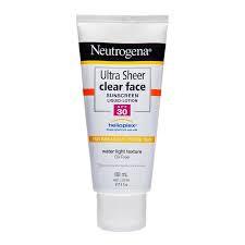Neutrogena Ultra Sheer Clear Face Lotion Spf30 88Ml