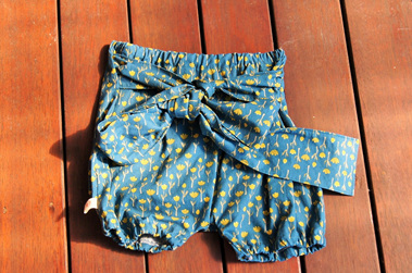 'Neve' Tie Bloomers, 'Tulips' 100% Cotton, 18m