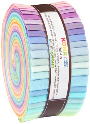 New Pastel Palette Kona Cottons Jelly Roll