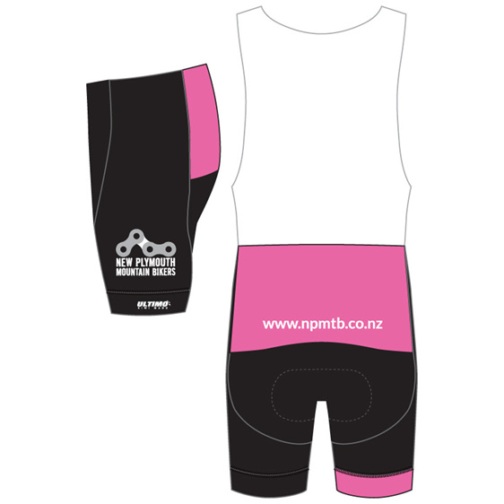 New Plymouth MTB Club Pink Bibshorts