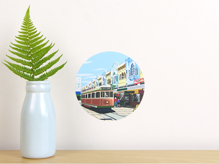 New Regent Street wall decal dot