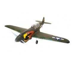 New version P-40N Warhawk Parrothead 80in 33-38cc w/Electric rotating Retracts and wheels by Seagull
