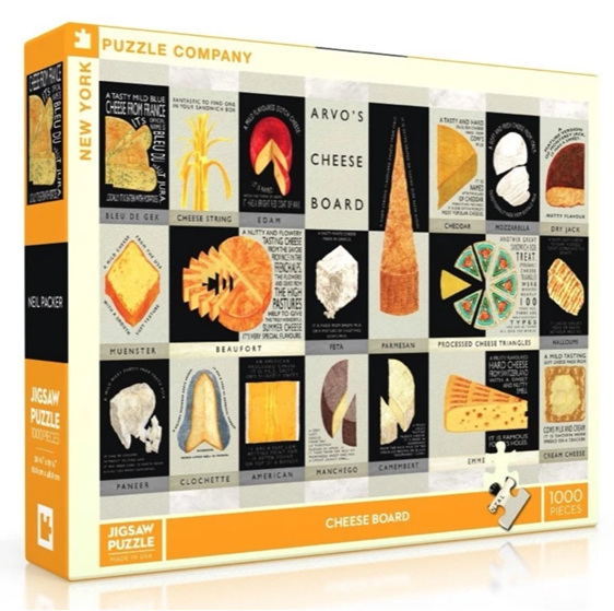 New York Puzzle 1000 pce jigsaw puzzle Cheese Board buy at www.puzzlesnz.co.nz