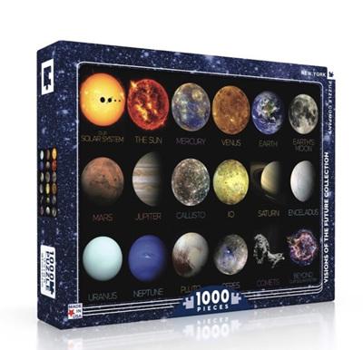 New York Puzzle Company 1000 Piece Jigsaw Puzzle: Solar System
