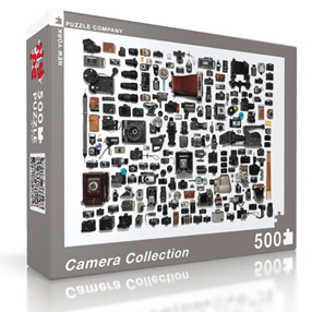 New York Puzzle Company 500 Piece Jigsaw Puzzle: Camera Collection
