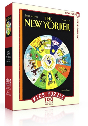 New York Puzzle Company 100 Piece Jigsaw Puzzle :  Mother Goose Zodiac