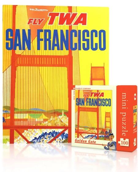 New York Puzzle Company 100 Piece Mini Jigsaw Puzzle : Golden Gate