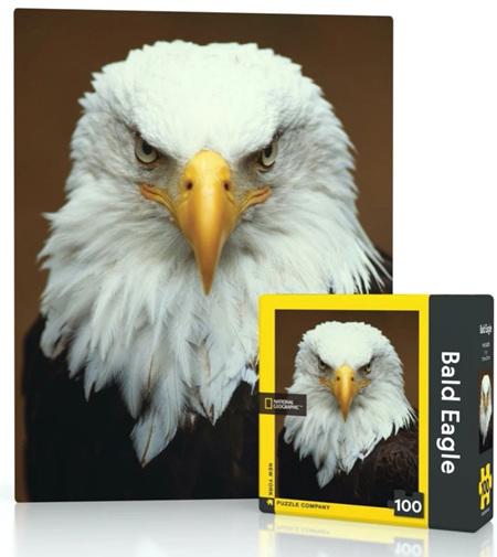 New York Puzzle Company 100 Piece Mini Jigsaw Puzzle : Bald Eagle