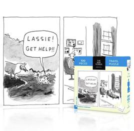 New York Puzzle Company 100 Piece Jigsaw Puzzle :  Lassie Get Help