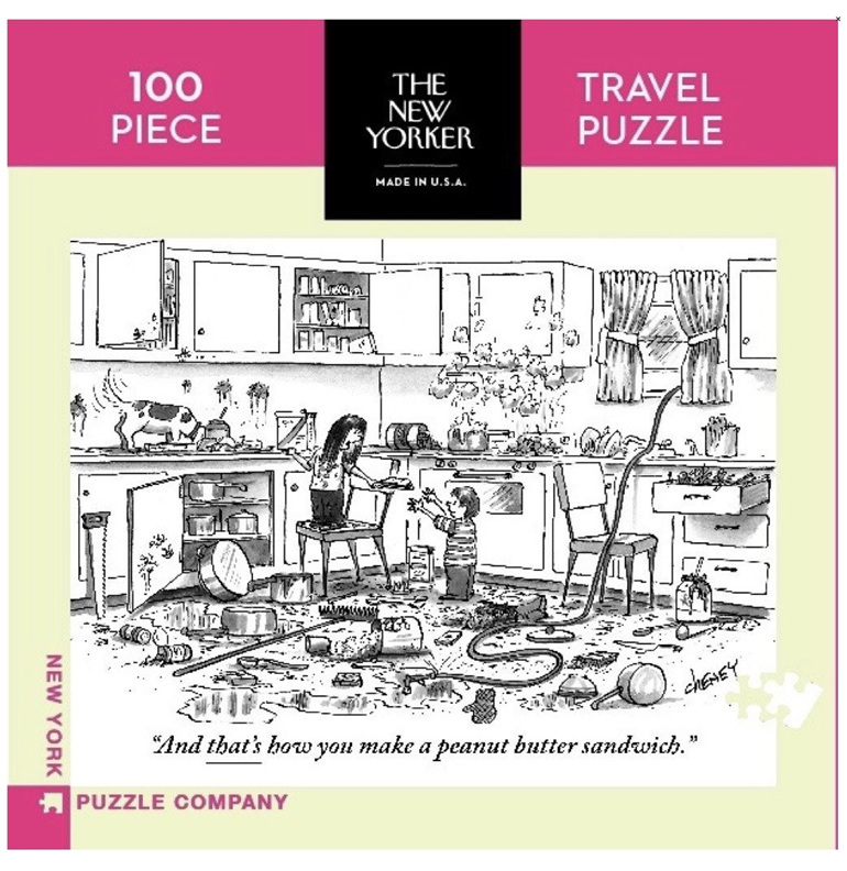 New York Puzzle Company 100 piece puzzle Peanut Butter Sandwich buy at Puzzlesnz