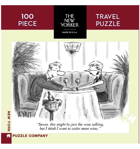 New York Puzzle Company 100 piece puzzle The Wine Talking buy at Puzzlesnz
