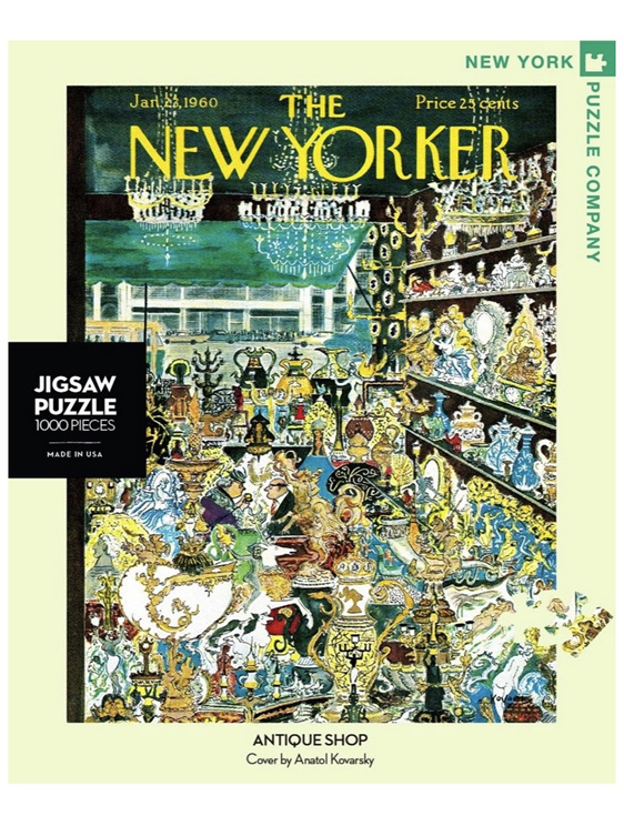 New York Puzzle Company 1000 pce puzzle  Antique Shop buy at www.puzzlesnz.co.nz
