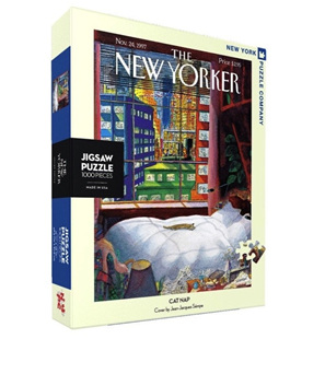New York Puzzle Company 1000 Piece Jigsaw Puzzle :  Cat Nap