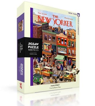 New York Puzzle Company 1000 Piece Jigsaw Puzzle :  Main Street