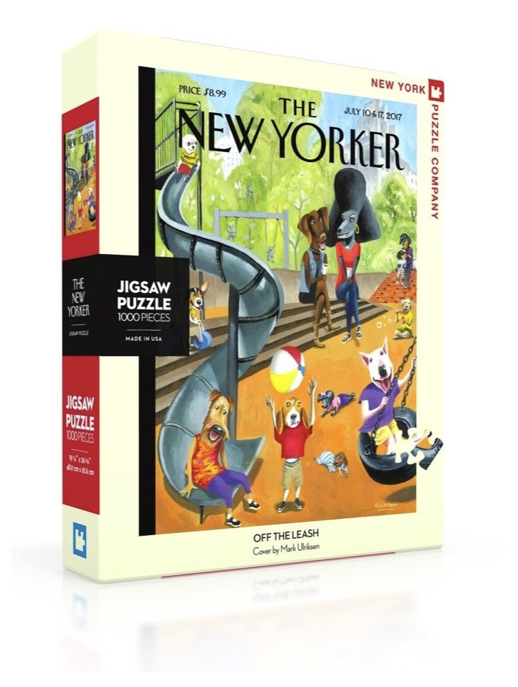New York Puzzle Company 1000 pce puzzle Off The Leash buy at www.puzzlesnz.co.nz